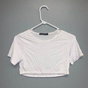 Nasty Gal white crop top